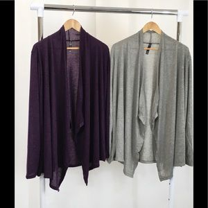 NWOT 2pk Rags&Couture Draped Hacci Cardigan Sz 3X